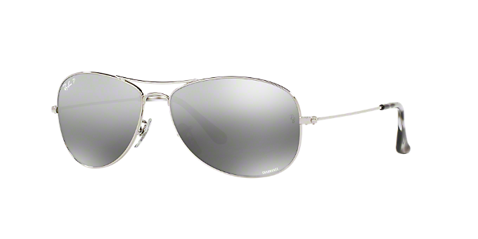 f032c1444b RB3562 59  Shop Ray-Ban Silver Gunmetal Grey Pilot Sunglasses at ...