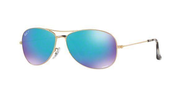 90957a44de94 RB3562 59  Shop Ray-Ban Gold Pilot Sunglasses at LensCrafters