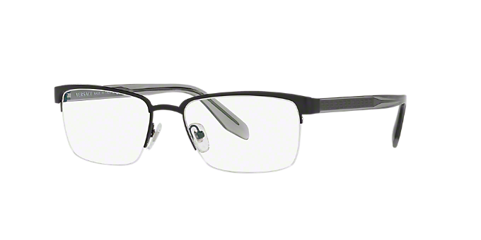 4c29a474aa7c VE1241: Shop Versace Black Rectangle Eyeglasses at LensCrafters