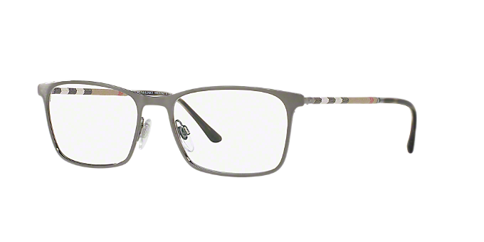09d5bd70020 BE1309Q  Shop Burberry Matte Gunmetal Rectangle Eyeglasses at ...