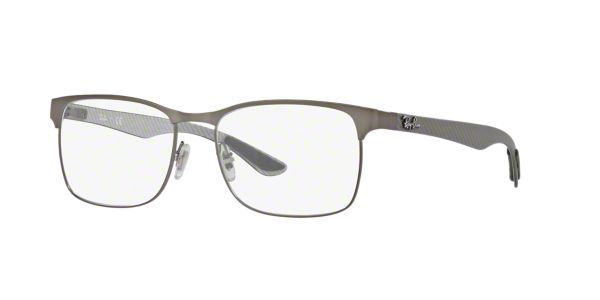 646ef4b44c RX8416  Shop Ray-Ban Silver Gunmetal Grey Square Eyeglasses at LensCrafters