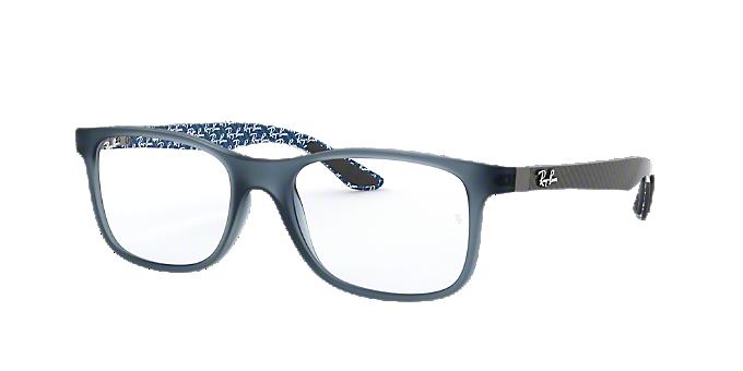 c866b028602 RX8903  Shop Ray-Ban Blue Square Eyeglasses at LensCrafters