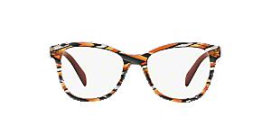 ed86baed83da PR 12TV  Shop Prada Tortoise Pillow Eyeglasses at LensCrafters