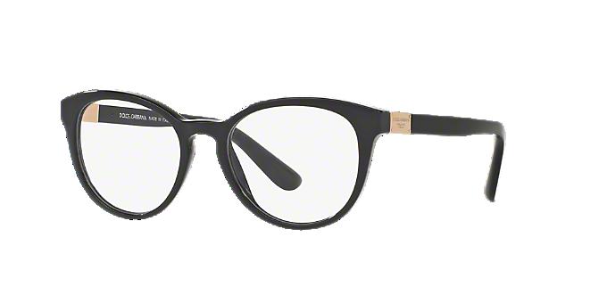 e5e53111397 DG3268  Shop Dolce   Gabbana Black Round Eyeglasses at LensCrafters