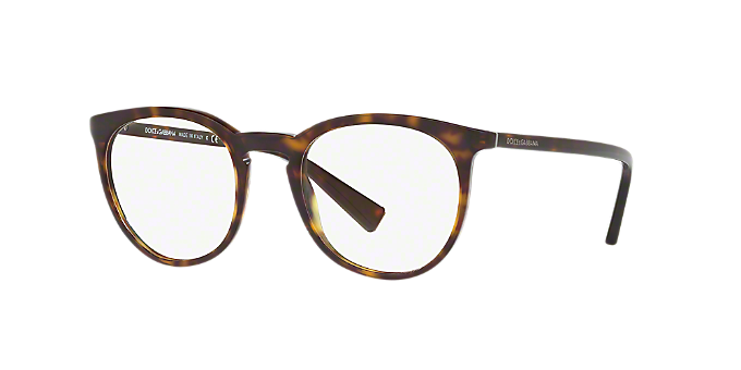 DG3269: Shop Dolce & Gabbana Tortoise Round Eyeglasses at LensCrafters