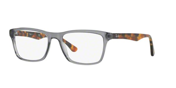 4cc8041dbd RX5279  Shop Ray-Ban Silver Gunmetal Grey Square Eyeglasses at LensCrafters