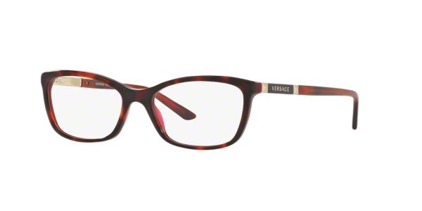 16e18bc0747 VE3186  Shop Versace Tortoise Butterfly Eyeglasses at LensCrafters