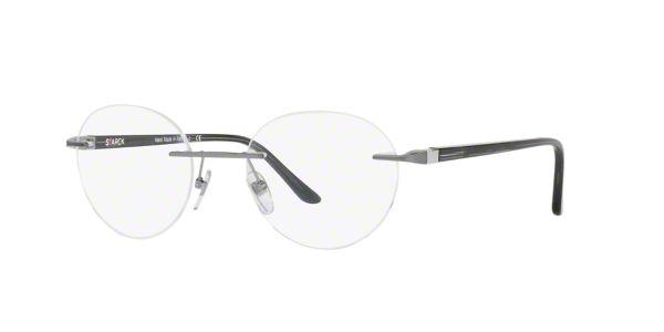 2ded3fa67ba SH2021  Shop Starck Eyes Silver Gunmetal Grey Panthos Eyeglasses at  LensCrafters
