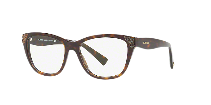 VA3008: Shop Valentino Tortoise Cat Eye Eyeglasses at LensCrafters