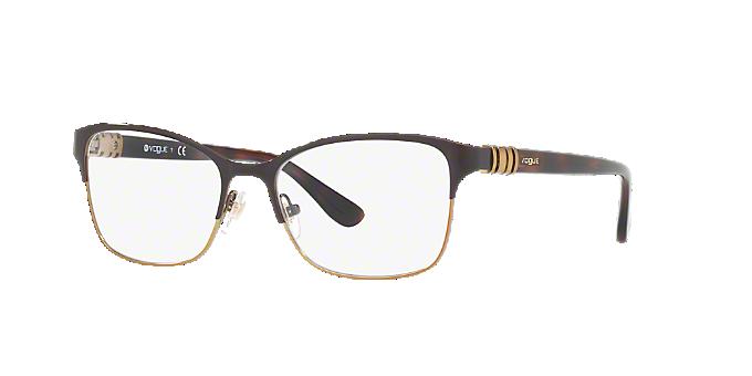 VO4050: Shop Vogue Brown/Tan Pillow Eyeglasses at LensCrafters