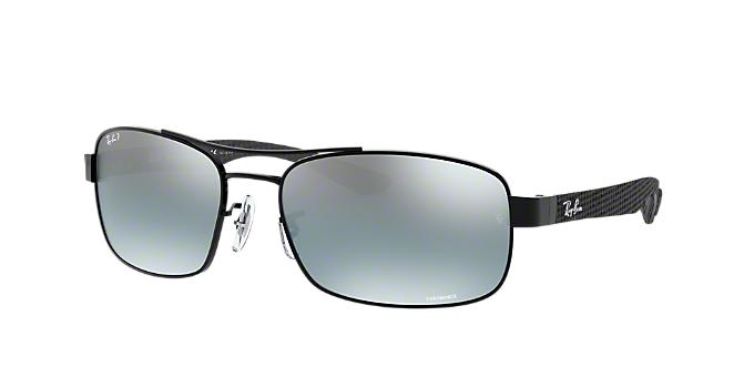 40b6e78b3e9 RB8318CH 62  Shop Ray-Ban Black Rectangle Sunglasses at LensCrafters