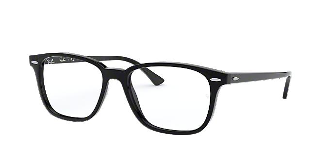 ac47b676b6 RX7119  Shop Ray-Ban Black Rectangle Eyeglasses at LensCrafters