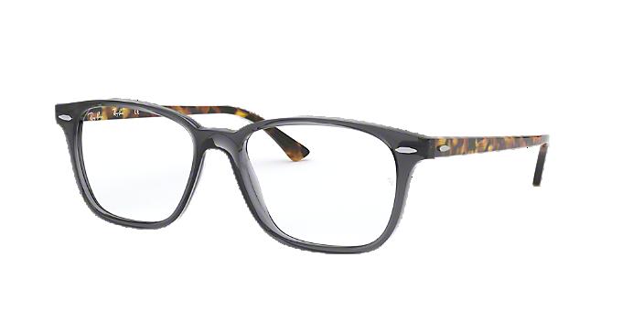 a29342d525 RX7119  Shop Ray-Ban Silver Gunmetal Grey Rectangle Eyeglasses at ...