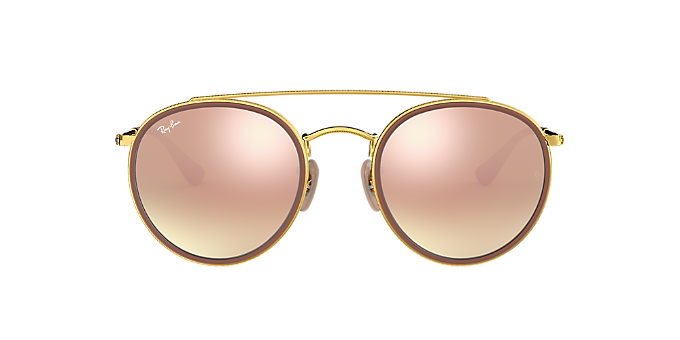 dfcc9ca27a RB3647N 51  Shop Ray-Ban Gold Panthos Sunglasses at LensCrafters