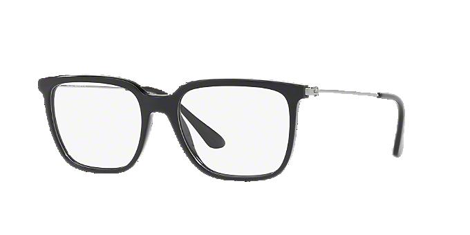 7a70fd555d PR 17TV  Shop Prada Black Rectangle Eyeglasses at LensCrafters