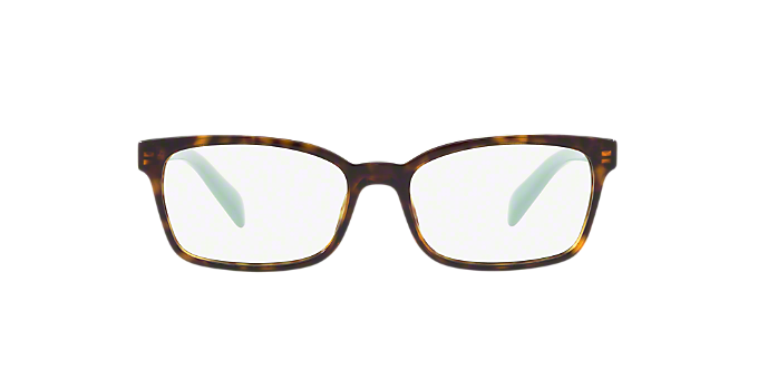 c0bddabaed PR 18TV  Shop Prada Tortoise Rectangle Eyeglasses at LensCrafters