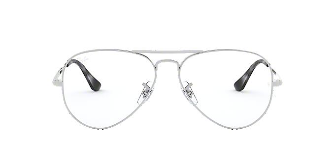 246e9026bbc RX6489  Shop Ray-Ban Silver Gunmetal Grey Pilot Eyeglasses at ...