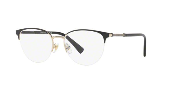 VE1247: Shop Versace Black Cat Eye Eyeglasses at LensCrafters