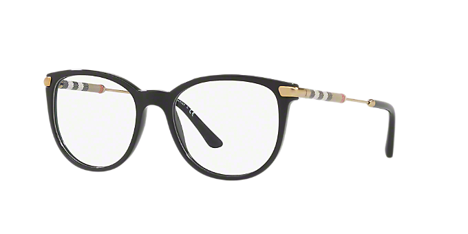ac238a3b08 BE2255Q  Shop Burberry Black Square Eyeglasses at LensCrafters