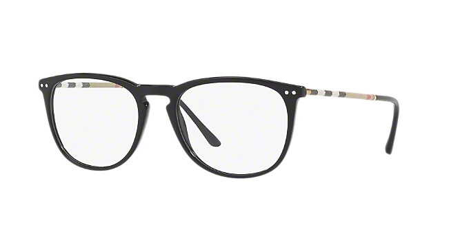ad6cdf2dd4 BE2258Q  Shop Burberry Black Square Eyeglasses at LensCrafters