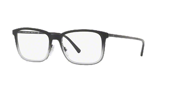87d8e5f02af BE1315  Shop Burberry Black Rectangle Eyeglasses at LensCrafters