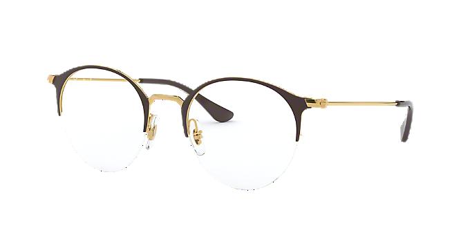 01fe9c0ce RX3578V: Shop Ray-Ban Gold Panthos Eyeglasses at LensCrafters
