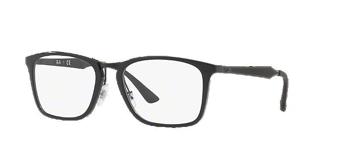 RX7131: Shop Ray-Ban Black Square Eyeglasses at LensCrafters