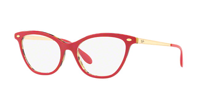 RX5360: Shop Ray-Ban Red/Burgundy Cat Eye Eyeglasses at LensCrafters