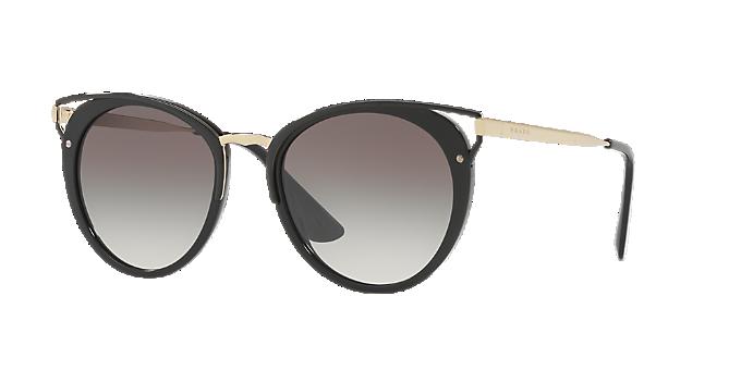 d15d645664d04 PR 66TS 54  Shop Prada Black Panthos Sunglasses at LensCrafters