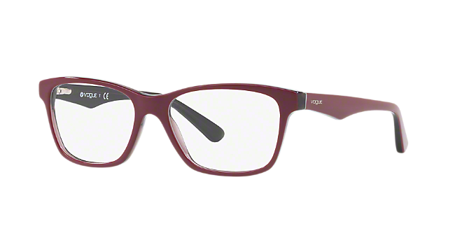 VO2787   Découvrez des lunettes Vogue carrées rouges bourgogne chez ... dbeba97ffe26