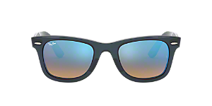 0a347016d RB4340 50 WAYFARER EASE: Shop Ray-Ban Black Square Sunglasses at ...