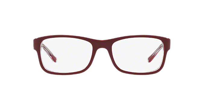 d26832a47d RX5268  Shop Ray-Ban Red Burgundy Rectangle Eyeglasses at LensCrafters