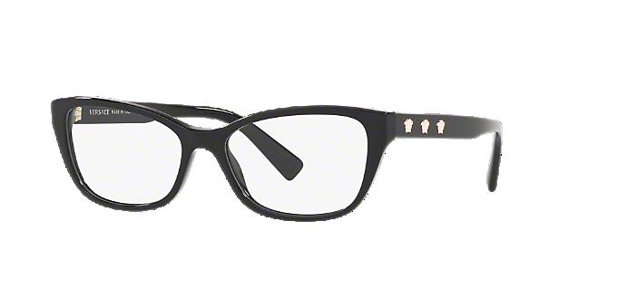 5f2f6c80f91e6 VE3249  Shop Versace Black Cat Eye Eyeglasses at LensCrafters