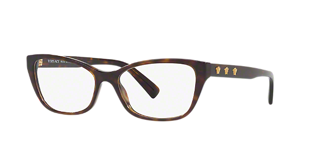 VE3249: Shop Versace Tortoise Cat Eye Eyeglasses at LensCrafters