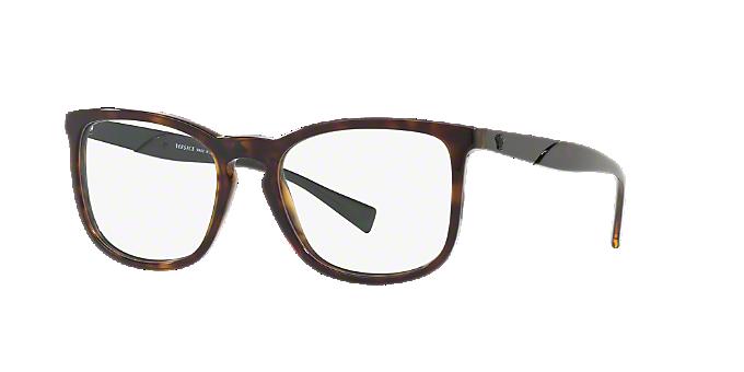 VE3252: Shop Versace Tortoise Pillow Eyeglasses at LensCrafters