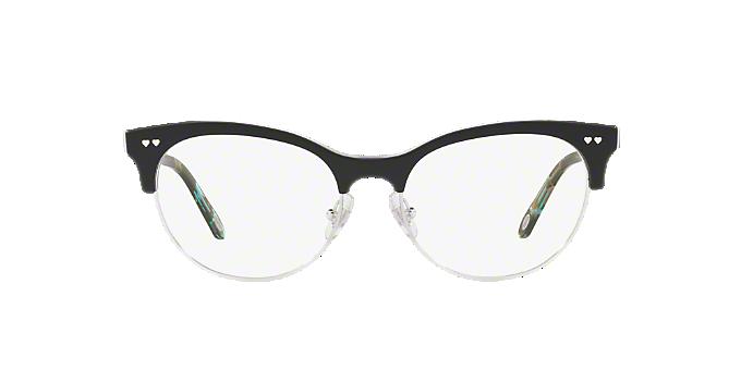 3543ed0154 TF2156  Shop Tiffany Black Oval Eyeglasses at LensCrafters