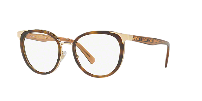 f80b92d68f1d1 VE1249  Shop Versace Tortoise Panthos Eyeglasses at LensCrafters
