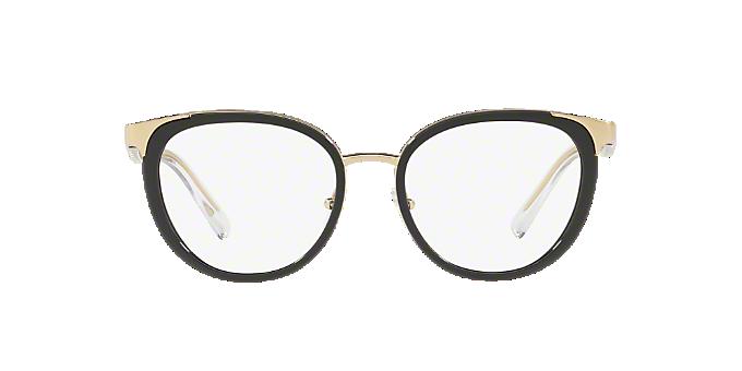 6a4f5ae7efc VE1249  Shop Versace Black Panthos Eyeglasses at LensCrafters
