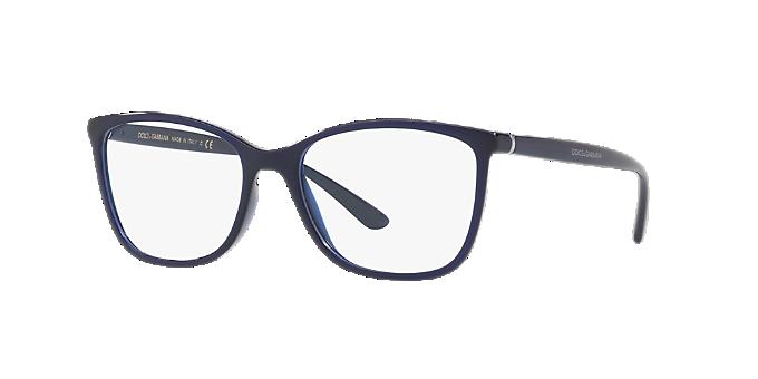 488d310682 DG5026  Shop Dolce   Gabbana Blue Rectangle Eyeglasses at LensCrafters