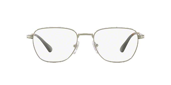 a60bbad8d1c77 PO2447V  Shop Persol Silver Gunmetal Grey Square Eyeglasses at ...