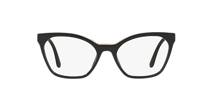 dd9e5dcfda3 PR 09UV  Shop Prada Black Geometric Eyeglasses at LensCrafters