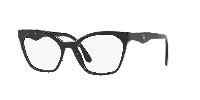 dd9e5dcfda3 PR 09UV  Shop Prada Black Geometric Eyeglasses at LensCrafters