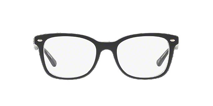 RX5285: Shop Ray-Ban Silver/Gunmetal/Grey Square Eyeglasses at ...
