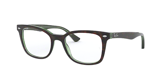8c74635c5e99 RX5285: Shop Ray-Ban Tortoise Square Eyeglasses at LensCrafters