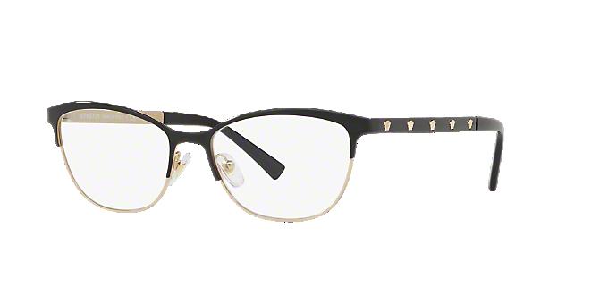 b39b68e84e2 VE1251  Shop Versace Black Cat Eye Eyeglasses at LensCrafters