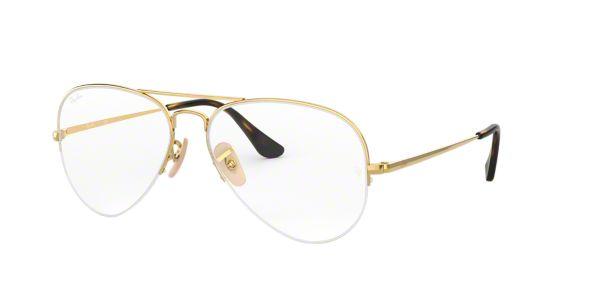 ea829661bb02 RX6589: Shop Ray-Ban Gold Pilot Eyeglasses at LensCrafters
