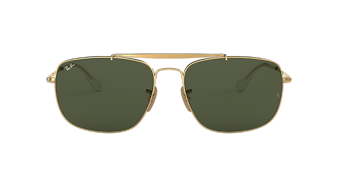 d4404842ba8 RB3560 61 THE COLONEL  Shop Ray-Ban Gold Square Sunglasses at LensCrafters