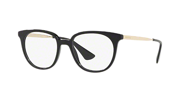 PR 13UV: Shop Prada Black Oval Eyeglasses at LensCrafters