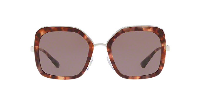 13a01eaa393 PR 57US 54  Shop Prada Tortoise Square Sunglasses at LensCrafters