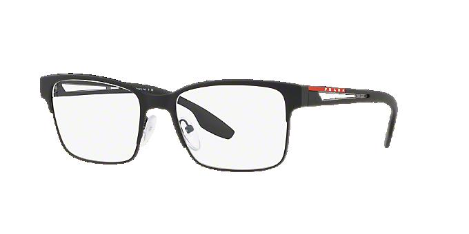 c7606b8d78 PS 55IV  Shop Prada Linea Rossa Black Rectangle Eyeglasses at ...